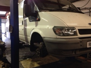 ford transit on ramps