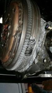 Skoda Flywheel requiring repair
