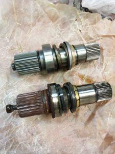 worn vw transport driveshaft splines