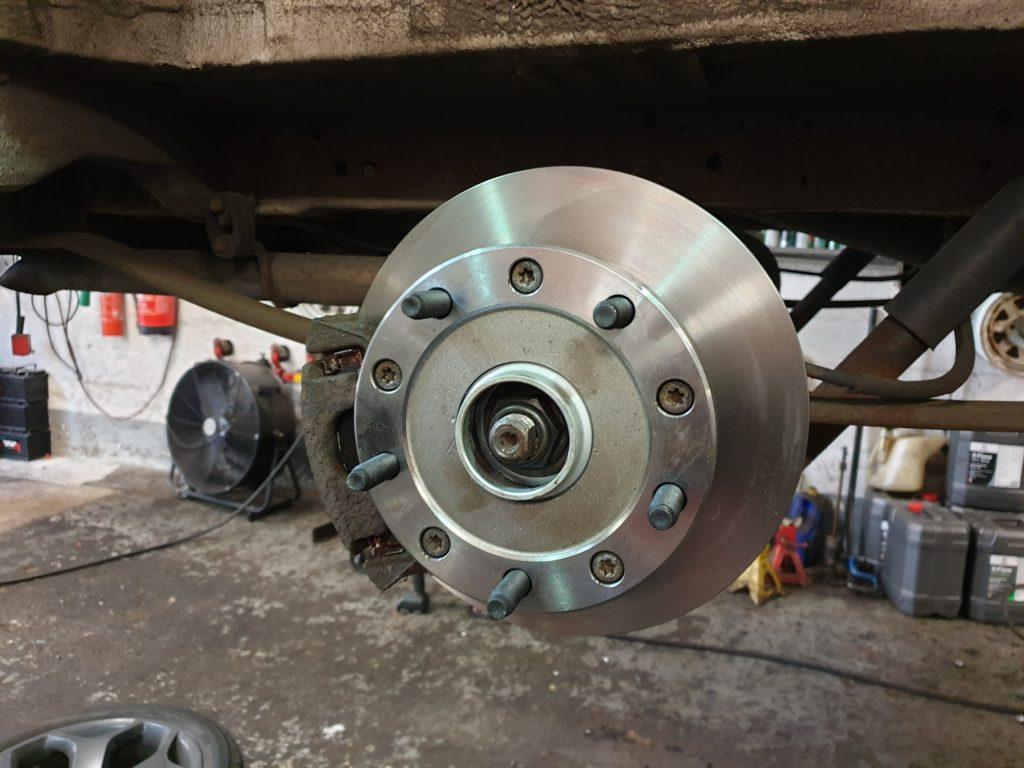 Ford transit rear brake discs repair