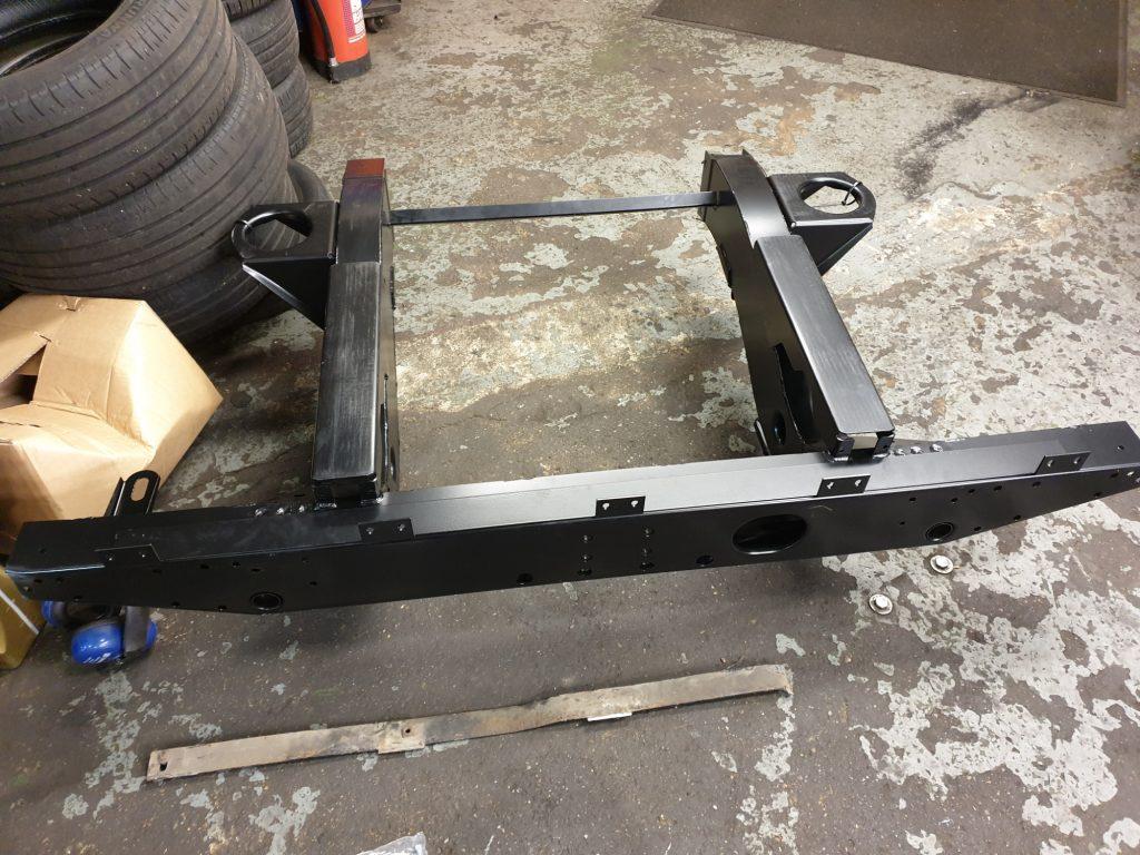 Landrover rear quarter chassis repair